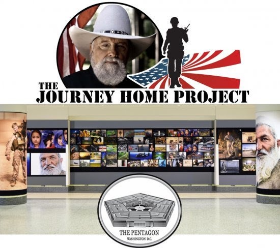 CHARLIE DANIELS' NON-PROFIT THE JOURNEY HOME PROJECT PARTNERS WITH RICH POVERTY ORGANIZATION FOR VETERANS ART EXHIBIT AT THE PENTAGON IN WASHINGTON, D.C.