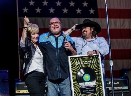 COUNTRY AND SOUTHERN ROCK LEGEND  CHARLIE DANIELS POSTHUMOUSLY RECEIVES PANDORA BILLIONAIRE AWARD