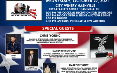 THE CHARLIE DANIELS PATRIOT AWARDS DINNER SET FOR OCT. 27 AT NASHVILLE'S CITY WINERY